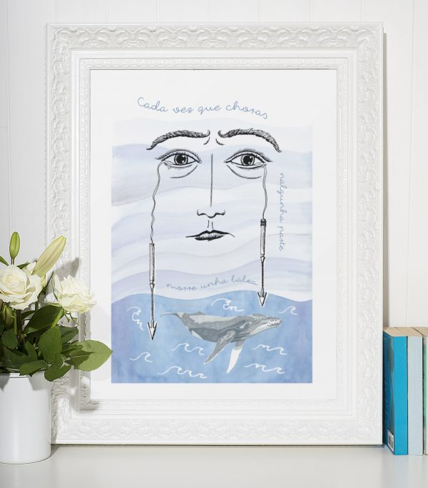 Lámina decoración balea arte ilustración regalo