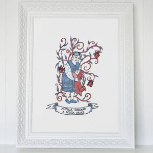 Reprodución ilustración avoa neta neto decoración regalo