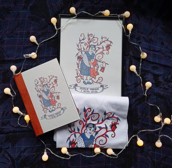 Pack lámina decorativa-caderno artesanal-regalo orixinal-feito a man-orixes
