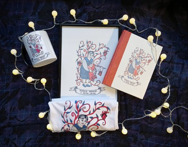 taza ilustrada-lámina decorativa-caderno artesanal-regalo orixinal