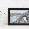 Lámina decorativa araos pai e fillo regalo artesanía ilustración orixinal